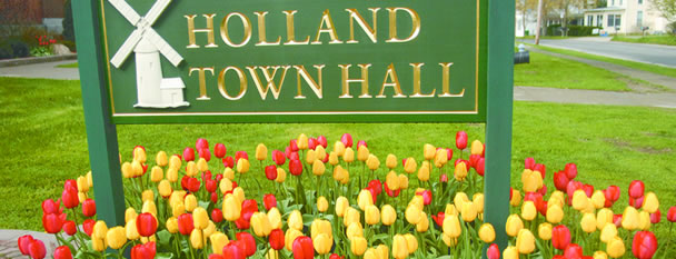 Holland Town Hall Sign (Photo taken by Marty Wangelin)